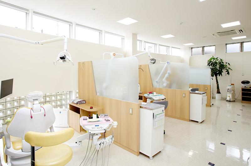 ゆとりある診療スペース